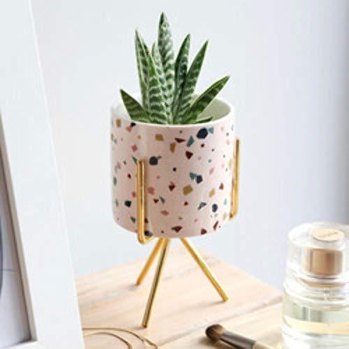 Lisa Angel Mini-Pflanzgefäß mit Ständer, Terrazzo-Print