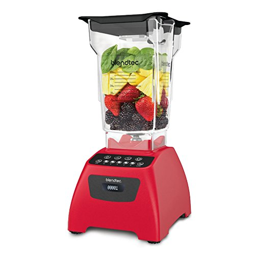 Blendtec Classic 575 with FourSide Jar, Poppy Red