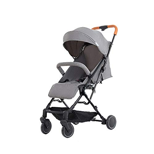 Affordable Baby cart Can sit Reclining Ultralight Portable fold Mute Detachable Cleaning Suitable fo...