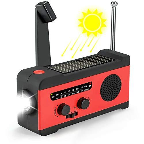 「2020最新式 高音質」 防災ラジオ 防災ソーラーラジオ 多機能 BayCame 大容量2000mA防災ソーラーラジオ SOSアラート手回しラジオ AM/FM/WB携帯ラジオ ラジオライト USB充電 iPhone/Android対応 3つ給電式 防水