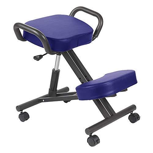 FGDFGDFEEGVD Ergonomischer anhebender kniender Stuhl-Korrekturhaltungs-Stuhl-Pferdesattel-Entwurf Anti-Buckel, mit Griffen