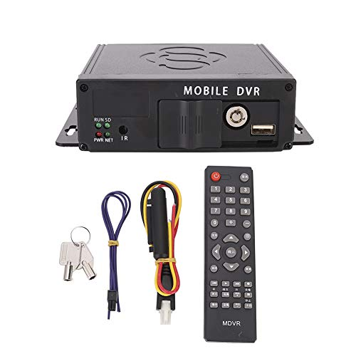 Akozon Grabadora de DVR para automóvil, Grabadora de Video de 4 Canales AHD para vehículo Dispositivo de monitoreo de cámara DVR para Auto Camión Autobús Grabación Manual/Grabación de Encendido