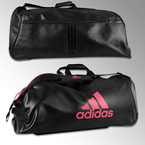 Adidas sporttas met wieltjes, zwart/roze