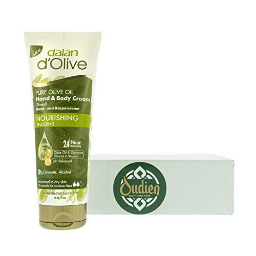 OUDIEN Dalan d'Olive Hand und Körpercreme mit reichhaltigem Olivenöl, normale bis trockene Haut, 24 h Feuchtigkeit 250 ml