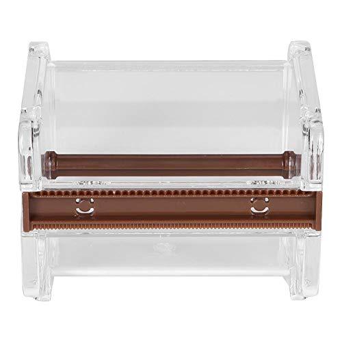 Washi Dispensador de cinta, Plástico transparente Washi Tape Cutter Tape Holder Roll Tape Holder Office Desktop Tool(White)