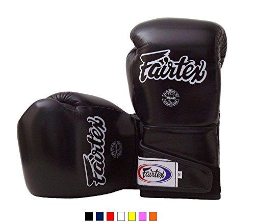 Fairtex Muay Thai Boxing Gloves BGV6 Solid Black 16 oz Training &...