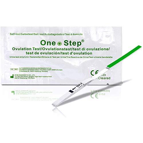 One Step–15Tests de Ovulación–altamente sensible pruebas de ovulación/fertilidad–20mIU/ml pruebas de ovulación