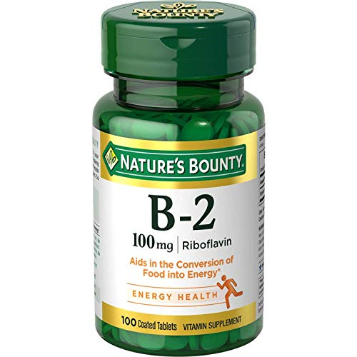 Nature's Bounty Vitamin B-2 100 mg, 100 Tablets (Pack of 6)