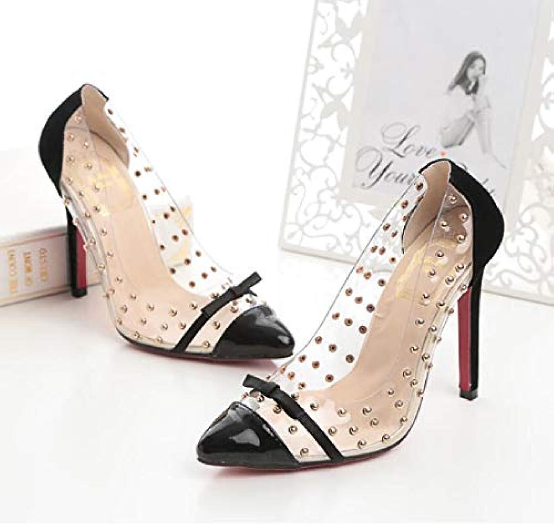 Women's Faux Leather PU(Polyurethane) Spring & Summer Sweet British Heels Stiletto Heel Pointed Toe Party & Evening,B,US6.57 EU37 UK4.55 CN37