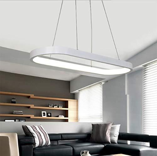 Lampadario Moderno LED Anelli,Semplice Ellisse Elegante Design Lampadari Altezza Regolabile per Ufficio Studio Sala Riunioni Salotto Soggiorno 40w