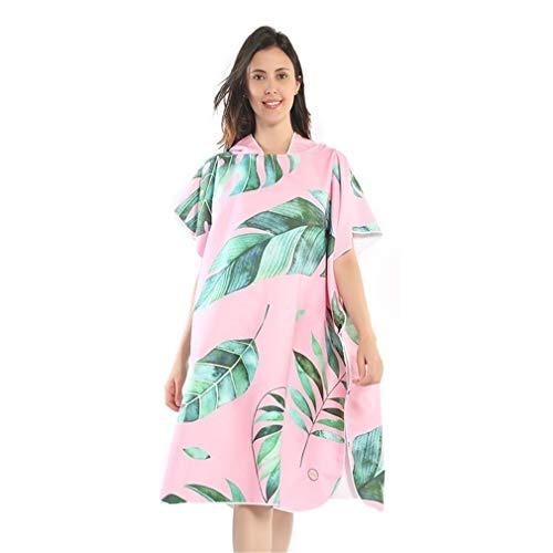 Xlabor Poncho de baño de microfibra, secado rápido, albornoz con capucha, toalla de ducha, natación, surfing, playa, buceo, diseño E