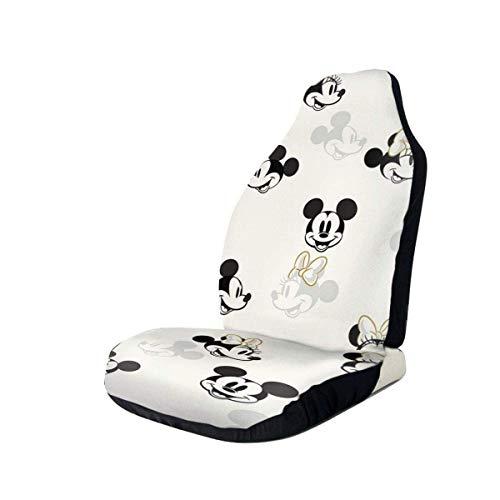 Du-shop Mi-ckey und Minnie Mouse Autositzbezug Universeller Fahrzeugsitz Dekorativer Schutz für die meisten PKWs LKW V-ans SUV Vordersitze-D9