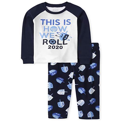 The Children's Place Baby Hanukkah Pajamas, Tidal, 18-24MONTH
