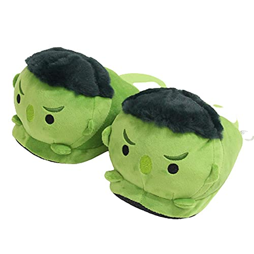 Y-PLAND Pantoufles en Peluche Batman Hulk de Personnage de Marvel, Chaussures en Coton de Bande dessinée à la Maison, Chaussons d'intérieur Chauds pour Hommes-B_35-42One_Size