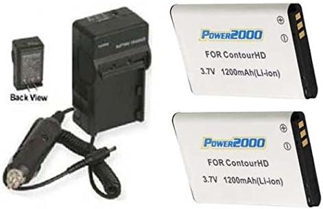 Fashion 2 Batteries + Charger for ContourHD HD Contour+2 4 years warranty Plus Contour+ H