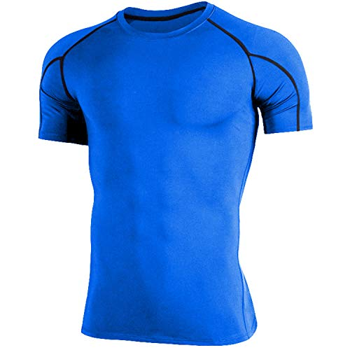 OXENSPORT Funktionsshirt Herren, Kompressionsshirt Fitness Kurzarm, Laufshirt Männer, Sportshirts Atmungsaktiv - 2