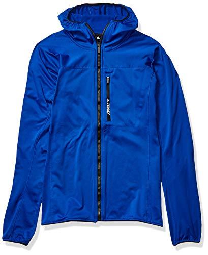 adidas Outdoor Tracerocker Chaqueta de forro polar con capucha para hombre, COL Royal, S