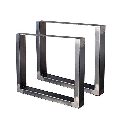 Zelsius Tischbeine Tischkufen Tischgestell 2 Stück Metall Kufen Rohstahl oder Grau I verschiedene Größen I Industrie ((B) 64 x (H) 40 cm, Rohstahl (transparent lackiert))