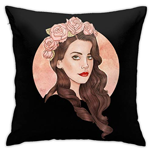 Genertic Lana Del Rey - Federa per cuscino in peluche per casa, divano, camera da letto