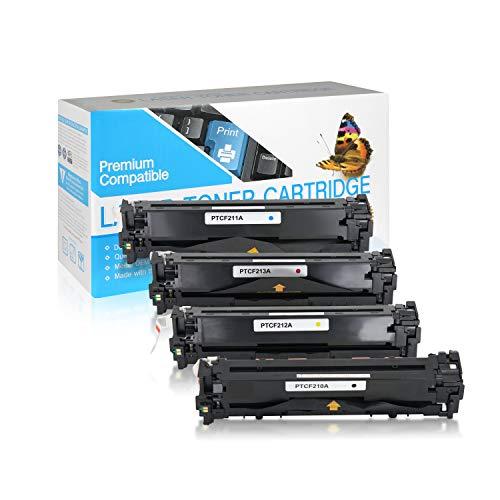 SuppliesOutlet Compatible Toner Cartridge Replacement for HP 131A / CF210A / CF211A / CF212A / CF213A (C,M,Y,K,4 Pack)