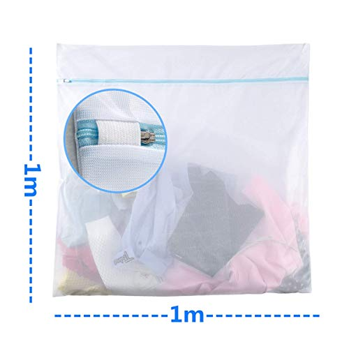 Phyllis A 特大サイズ 洗濯ネット ランドリーネット 洗濯バッグ 布団 毛布 カーテン ダウン 型崩れ防止 傷み防止 ミニ100*100cm