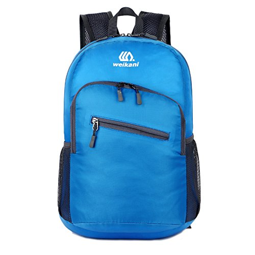 RENZE Homdox 25L Lightweight CyclingHiking Daypack Handy Packable Resistant Travel Backpack Foldable Durable & Waterproof (Blue)