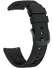 MARKACASE Samsung Gear Sport (Sm-R600) ile UYUMLU Pimli Silikon Kordon (Siyah)