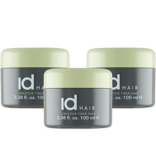 IdHAIR - Creative Fiber Wax - Faser wachs - 300 ml - Starker und flexibler Halt - Mattes Finish - Geeignet für kurzes bis mittellanges Haar (3x 100 ml)…