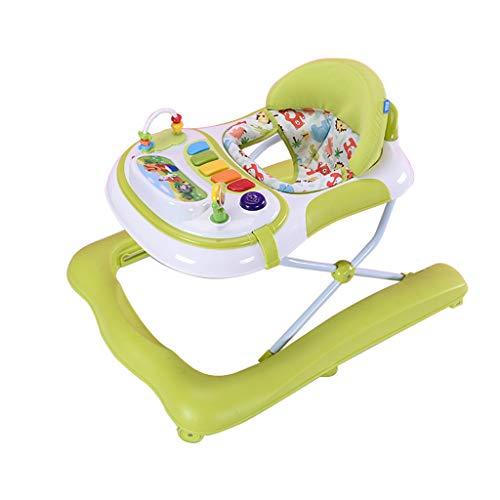 Jouets bébé marcheur Trotteur Multifonctionnel Anti-Renversement Enfants 6-12/18 Mois Baby Walker FANJIANI (Couleur : Vert)