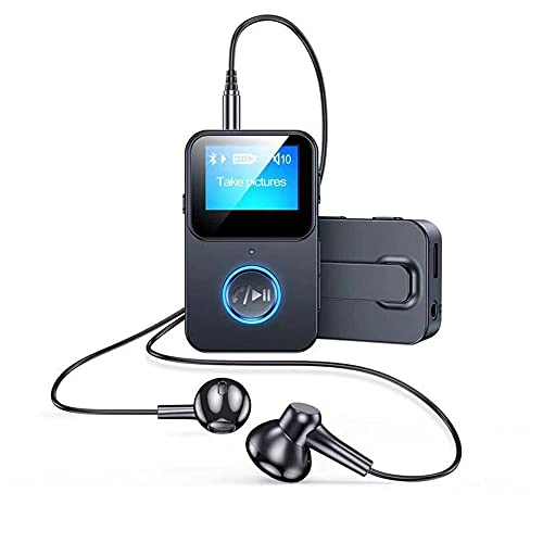 MP3 Player Bluetooth 5.0 Sport 32GB mit Kopfhörer, CVC Noise Cancelling Digital Audio Player Kamerasteuerung für Arbeit/Sport/Reisen,Unterstützt bis 128GB SD Karte.