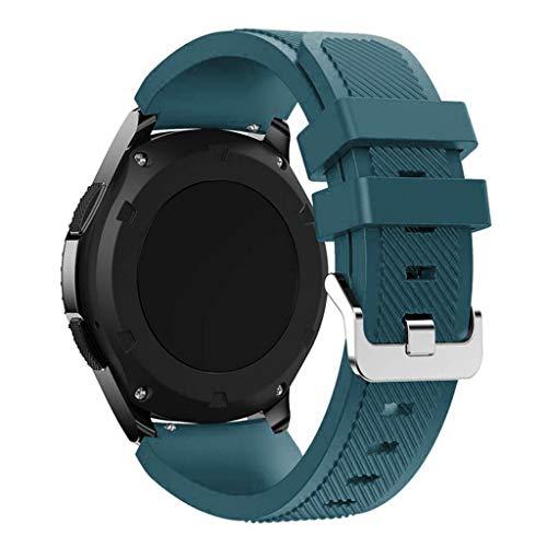 yuwei Correa de Silicona 20 mm para -Amazfit GTR, Huawei Watch GT2, Pulsera Watch3
