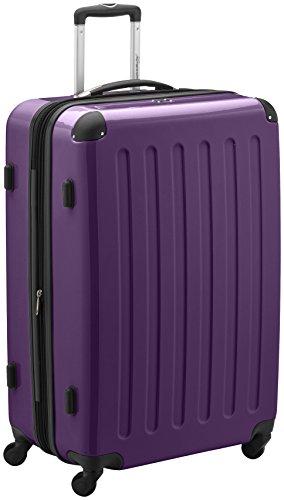 HAUPTSTADTKOFFER - Alex - Hartschalen-Koffer Koffer Trolley Rollkoffer Reisekoffer Erweiterbar, 4 Rollen, TSA, 75 cm, 119 Liter, Aubergine