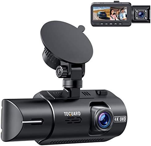 TOGUARD Dual Dash Cam 4K Front and 1080P Inside Cabin Dual Lens Car Dash Camera with 4 IR LEDs product image