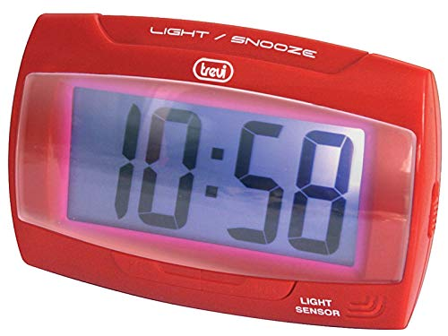 Trevi Reloj Despertador Digital, Rojo, Standard