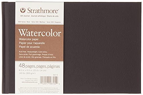 Strathmore 467-5 Álbum Espiral 21,6x14 24H Watercolor (400) 300g Blanco Nat, Papel
