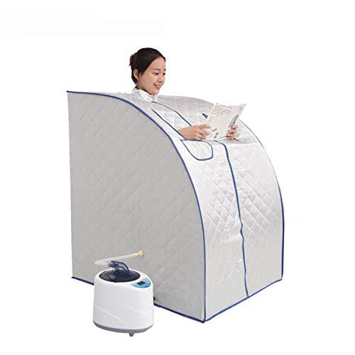 Inicio SPA Sauna de Vapor, Sauna portátil para el hogar para Bajar de Peso, Adelgazamiento del Cuerpo, desintoxicación, Reducir el estrés Fatiga,Azul
