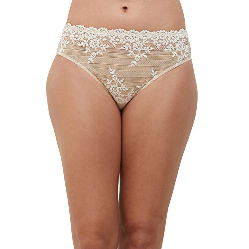 Wacoal Embrace Lace Culotte, Nude, 42 para Mujer ⭐
