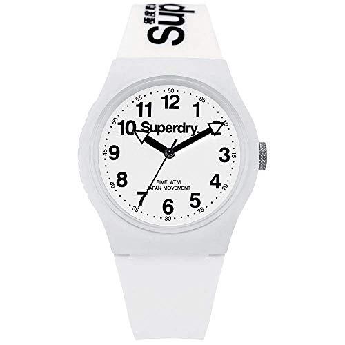 Superdry Reloj Analogico para Unisex de Cuarzo con Correa en Silicona SYG164WW