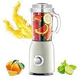 ZLJ Licuadora eléctrica Premium, exprimidor de Frutas y Verduras, con 2 Cuchillas y 3 Tazas para triturar Hielo, Hacer Batidos, Batidos de proteínas y más, Morado (Color: Verde)