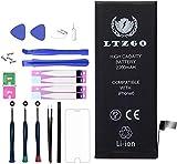 LTZGO Batterie Interne Compatible pour iPhone 6 2200mAh Batterie en Lithium-ION Batterie Rechargeable Haut Capacité avec Kits d'outil Adhésives Manuel de Réparation en Francais