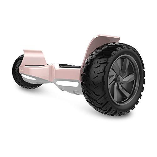 HYPER GOGO Off Road, Electric Self Balancing All Terrain Hoverboard with Built-in Speaker and LED Lights, UL2272 Certified, 8.5 Inch, Rose Gold