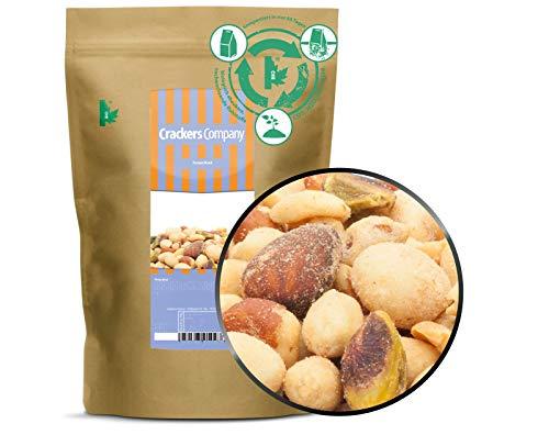 1 x 550g Nusskernmischung Oriental mit Erdnuss Cashew Macadamia Mandel Pistazie 23 % Protein exotisch