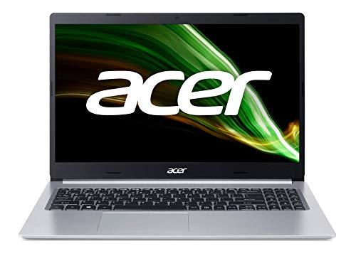 "Acer Aspire 5 A515-56-572C - Ordenador Portátil 15.6"" Full HD, Laptop (Intel Core i5-1135G7, 8GB RAM, 512GB SSD, UMA Graphics, Windows 10 Home), PC Portátil Color Plata - Teclado QWERTY Español"