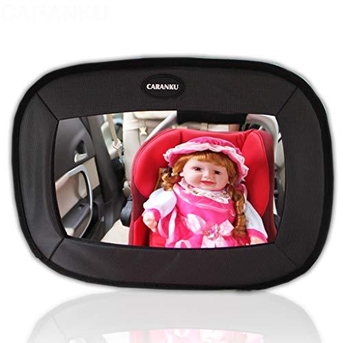 Espejo retrovisor del asiento de seguridad - Espejo para niños - Coche para bebé - Cesta invertida - Espejo trasero - Espejo HD