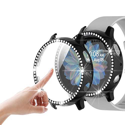 FayYang Bling - Protector de pantalla para Samsung Galaxy Watch Active 2 (44 mm), color negro