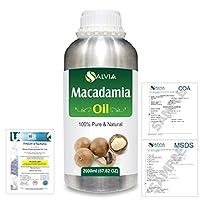 Macadamia (Macadamia Integrifolia) Natural Pure Undiluted Uncut Carrier Oil 2000ml/67 fl.oz.