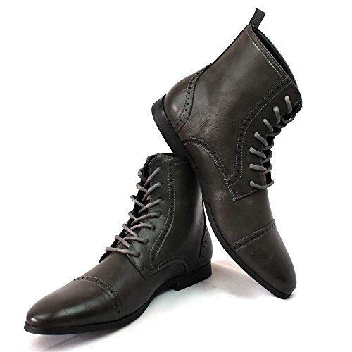 New Men's Cap Toe Boots Detailed Perforation Dress Shoes Modern Oxfords By Azar