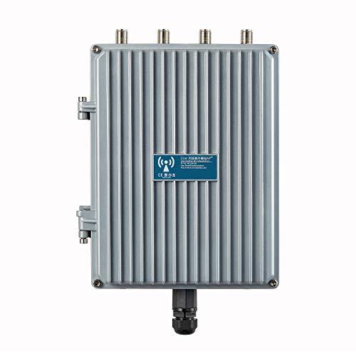Outdoor Gigabit Wireless Access Point 802.11ac 1200Mbps 2.4G 5.8G High Power Waterproof Outdoor Base Station Wireless AP CPE Support Wireless AP, Gateway, WiFi Repeater, Bridge, WISP (Silver)