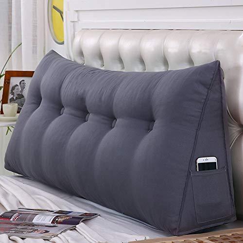 WENZHE Kopfteil Kissen Bett Rückenkissen Rückenlehne Für Bett Bettkeile Keilkissen Palettenpolster Softcase Sofa Zuhause Waschbar, 6 Farben (Farbe : 5#, größe : 200×50cm)
