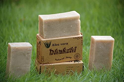 Handmade soap with essential oils (Pack of 5 soap - Coconut, Aloe Vera, Indian lilac (Neem), Fuller Earth (Multani Mitti), Rose Green Gram